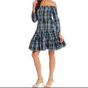 Gianni Bini plaid dress Daisy off shoulder